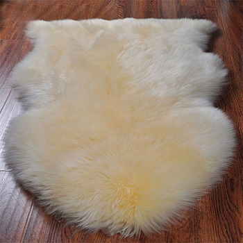 KAWOSEN Pure Wool Big Deluxe Whole Australian Sheepskin Plush Seat Cushion Cover Carpet Sofa Mat Bedroom Living Room BWSC01