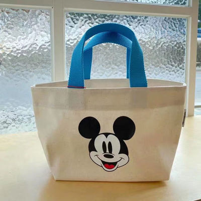 Disney Cartoon Mickey Mouse Women Children's Casual Canvas Bag Ladies Shoulder Bag Crossbody Shopping Bag Girls Hand Bags Plush