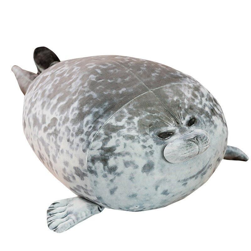 High Quality 80cm Sea Lion Plush Toys 3D Novelty Throw Pillows Soft Seal Plush Stuffed Plush House warming Party Hold Pillow