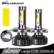 2 adet LED H4 H7 LED far büyük COB 10000LM LED araba ışıkları 50W H1 LED sis farları 12v 24v H11 HB3 HB4 otomatik lamba araba Styling