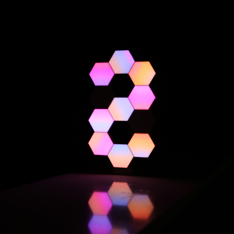 Ultimate SaleLifeSmart LED Quantum Light Smart Geometry Assembling DIY Lamp WiFi Work with Google Assistant Alexa Cololight APP Smart Control