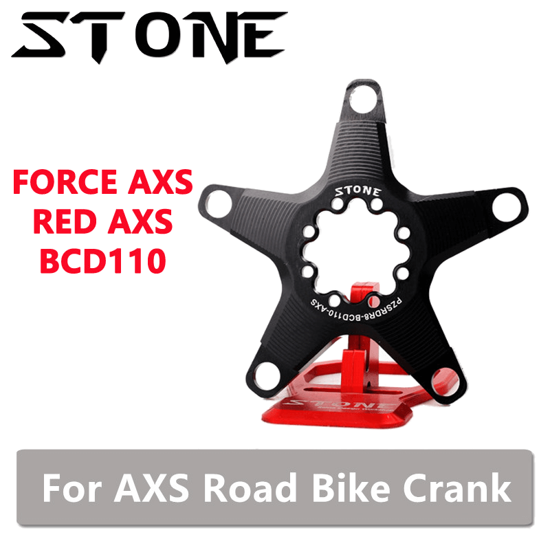 Stone Chainring AXS Adapter for Sram Force Red Road Bike AXS 110 BCD 5 Arm Adapter Spider Converter 12S 12 Speed Crank image