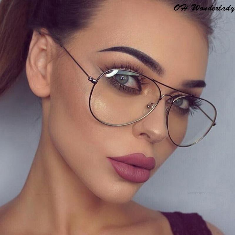 Aviation Metal Frame Sunglasses Round Vintage Glasses Transparent Women  Pilot Style Sun Glasses  Classic Optics Design