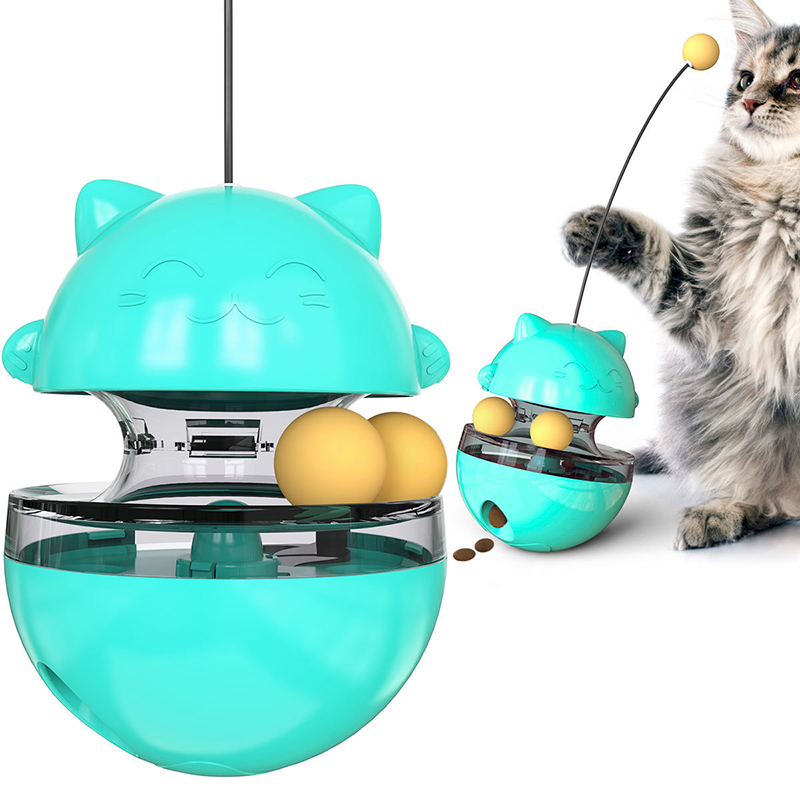 Funny Cat Toys Pet Slow Leaking Food Ball Cat Educational Tumbler Toy Food Dispenser IQ Improve Training Toys Pet Supplies