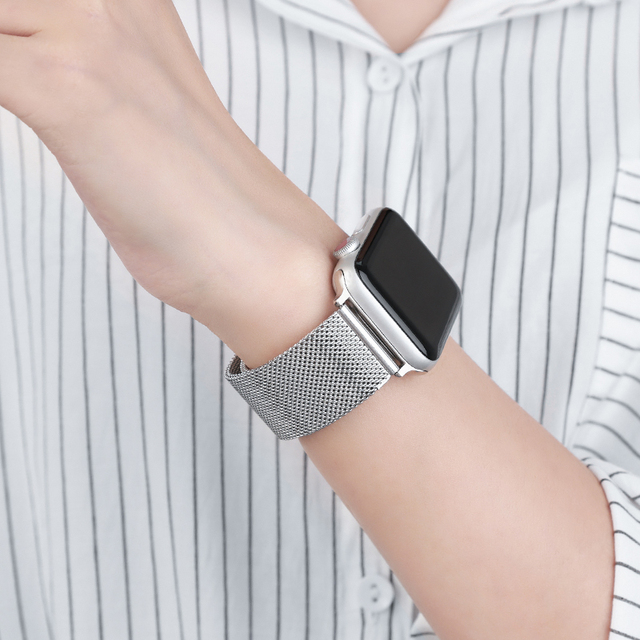 Metal Strap for Apple Watch 6/SE/5/4/3/2/1 38mm 40mm Stainless Steel Watch Band for iwatch series SE/6 42MM 44MM Bracelet Strap 4