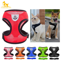 S/M/L/XL Soft Breathable Mesh Pet Harness and Leash Set Small Medium Dog Cat Vest Harness Collar For Chihuahua Pug Bulldog 8in1 cat stain and odor exterminator nm jfc s
