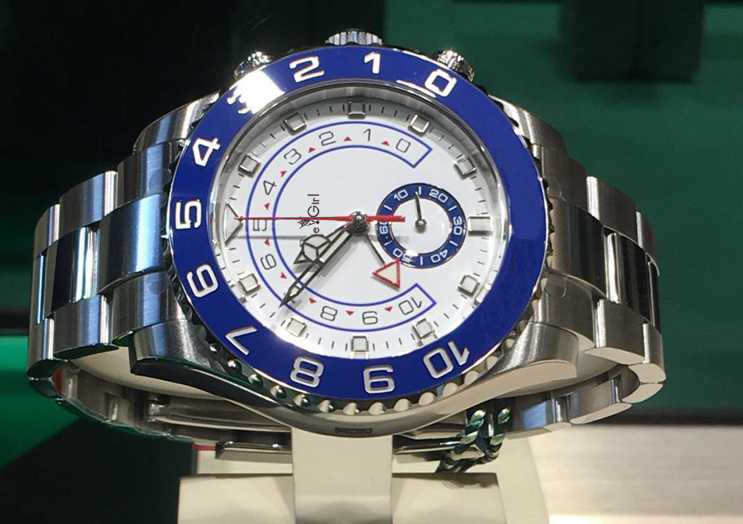 Luxury Brand New Men Automatic Mechanical Watches GMT Luminous Ceramic Blue Bezel Crystal Sapphire AAA+ Silver Gold White Watch