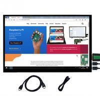 10.1 polegada hdmi lcd (b) 1280*800 monitor de exibição capacitiva  tela de toque ips  para raspberry pi  banana pi  bb preto win10
