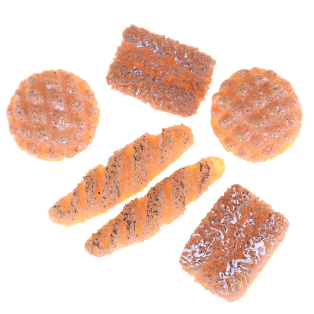6PCS/lot Mini Artificial Bread 1:12 Dolls House Miniature Bakery Bread For Kitchen FoodItems Scale Dolls Accessories
