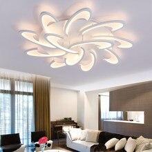 Moderno led lustres de teto luzes com controle remoto para o quarto sala estar cozinha branco luminárias pétala lâmpada iluminação