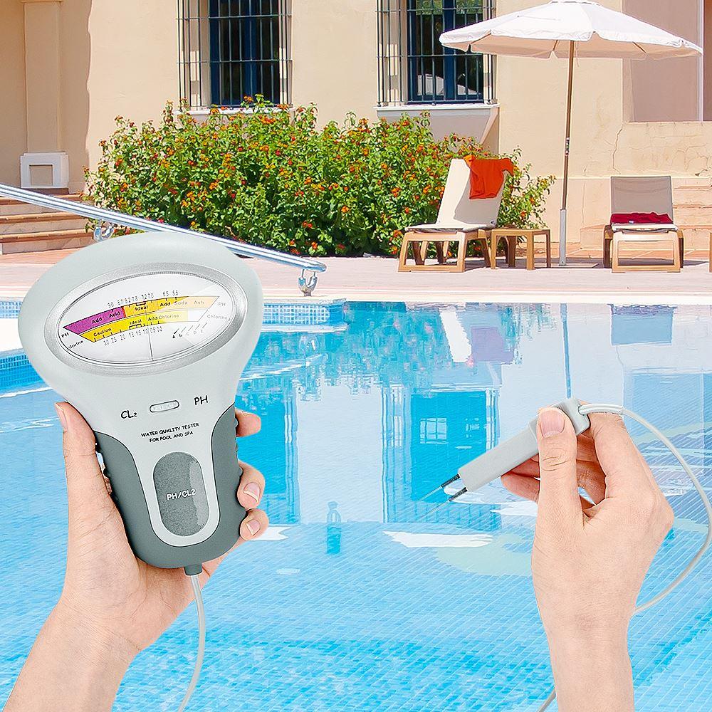 Digitale Cloro Metri PH Tester PH e Cloro 2 In 1 Tester di Qualità Dellacqua del Dispositivo di Prova CL2 di Misura Per La Piscina acquario