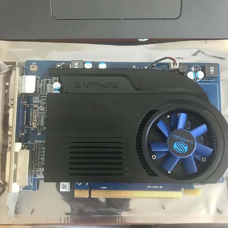 Видеокарты SAPPHIRE HD 6570 2 Гб GDDR3 для AMD, графическая карта GPU Radeon HD6570, офисный компьютер для AMD карты HDMI, б/у оригинал-1