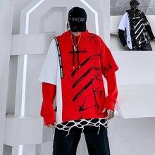 New Desige splash-ink Hoodies Sweatshirts Hat Men Stranger Things Hoody Letter  Hip Hop Mens Autumn Clothing
