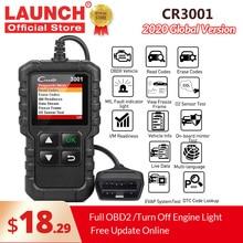 השקת X431 CR3001 מלא OBD2 סורק OBDII קוד Reader רכב אבחון כלי לכבות מנוע אור משלוח עדכון pk cr319 ELM327