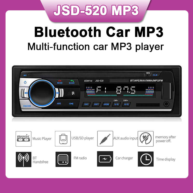 Audio neue Auto Radio bluetooth MP3 FM/USB eine din in dash USB port 12V Auto Audio bluetooth handfree auto radios blueooth aux in