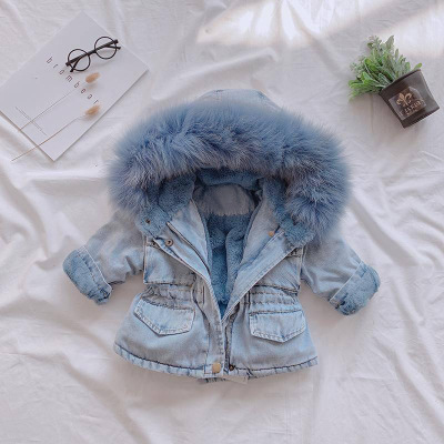 Baby Girls Dress Cotton Coat Thicken Jacket 2021 Winter Warm Fur Hooded Kids Top Wear Long Sleeve Jackets 1 2 3 4 5 Years 4
