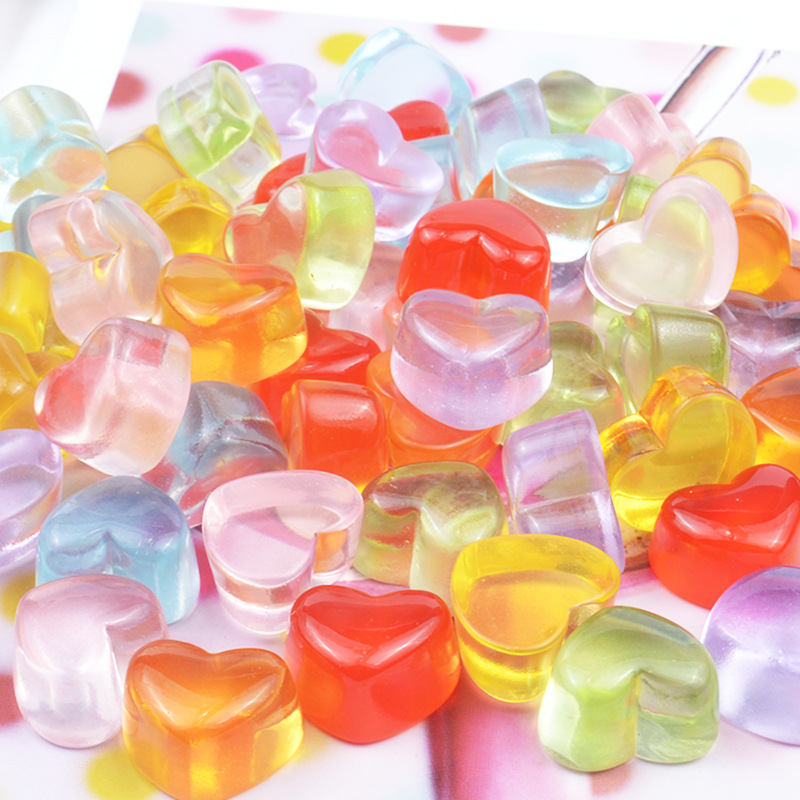 10Pcs Slime Simulated Love Candy Polymer Box Toy for Children Charms Modeling Clay DIY Kit Accessories Kids Plastic Gift
