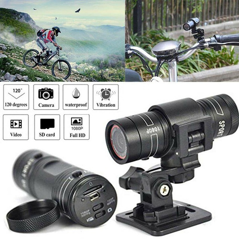 2019 Mini F9 HD Sports Camera Bike Motorcycle Helmet Sports Action Camera Video DV Full HD 1080P Sports Camera