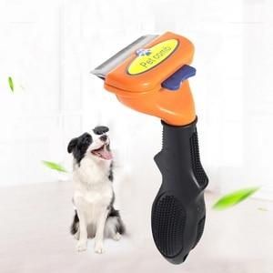 Pet расческа для удаления волос собака короткая средняя щетка для волос ручка щетка для ухода аксессуары расческа инструмент для груминга