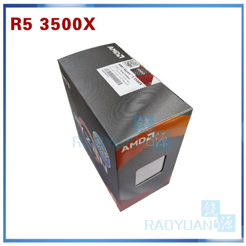 New AMD Ryzen 5 3500X R5 3500X 3.6 GHz Six-Core Six-Thread CPU Processor 7NM 65W L3=32M 100-000000158 Socket AM4 With Cooler Fan