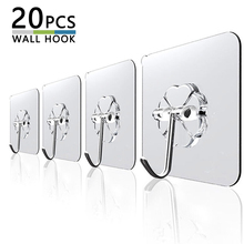 Sucker Hooks Suction Cup Wall-Hangers Self-Adhesive Door Bathroom Transparent Kitchen