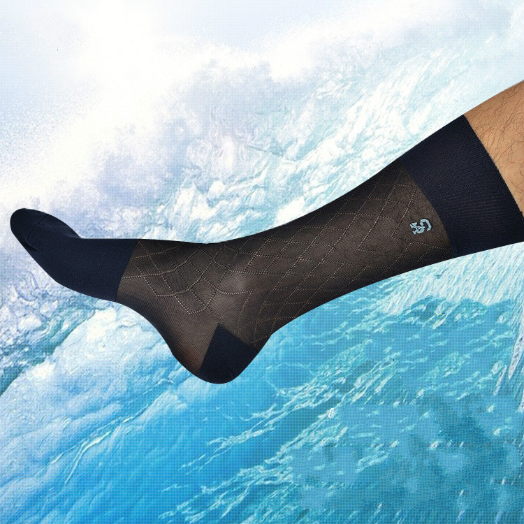 Tube Socks Men's Stocking Business Dress Stockings Ultra Thin Sheer Socks Exotic Formal Wear Suit Men Sexy Transparent TNT Socks