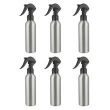 6Pcs 250Ml Aluminum Spray Bottle Portable Mini Perfume Bottles Empty Refillable Cosmetic Sprayer Atomizer