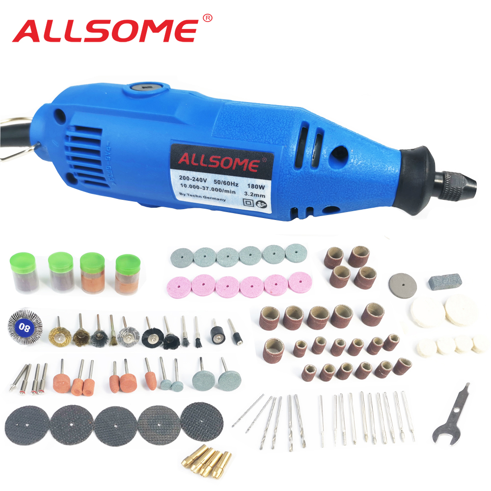 ALLSOME 180W Variable Speed Mini Electric Grinder Drill Rotary Tool With 149pcs Engraving Accessories
