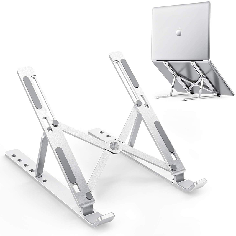 Aluminum Alloy Laptop Mounts For MacBook Pro/MacBook Air 13.3 Inch To 15.6 Inch Laptop Adjustable Portable Stand Holder For Desk