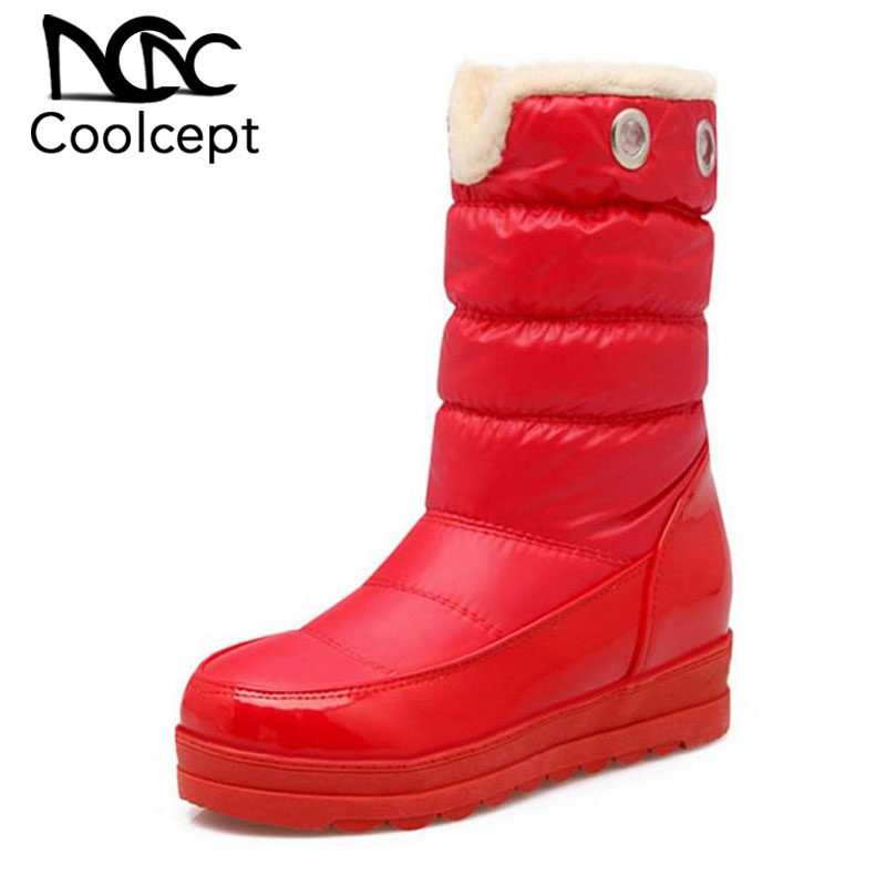 CoolCept/российские зимние ботинки женские ботинки с плюшевой подкладкой теплые зимние ботинки новые брендовые водонепроницаемые женские бот