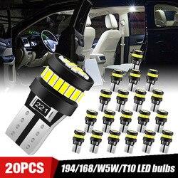 10/20/50pcs T10 W5W voiture intérieur lumières ampoule Led dôme lumière Parking côté marqueur lumière Canbus 194 168 plaque d'immatriculation lumières