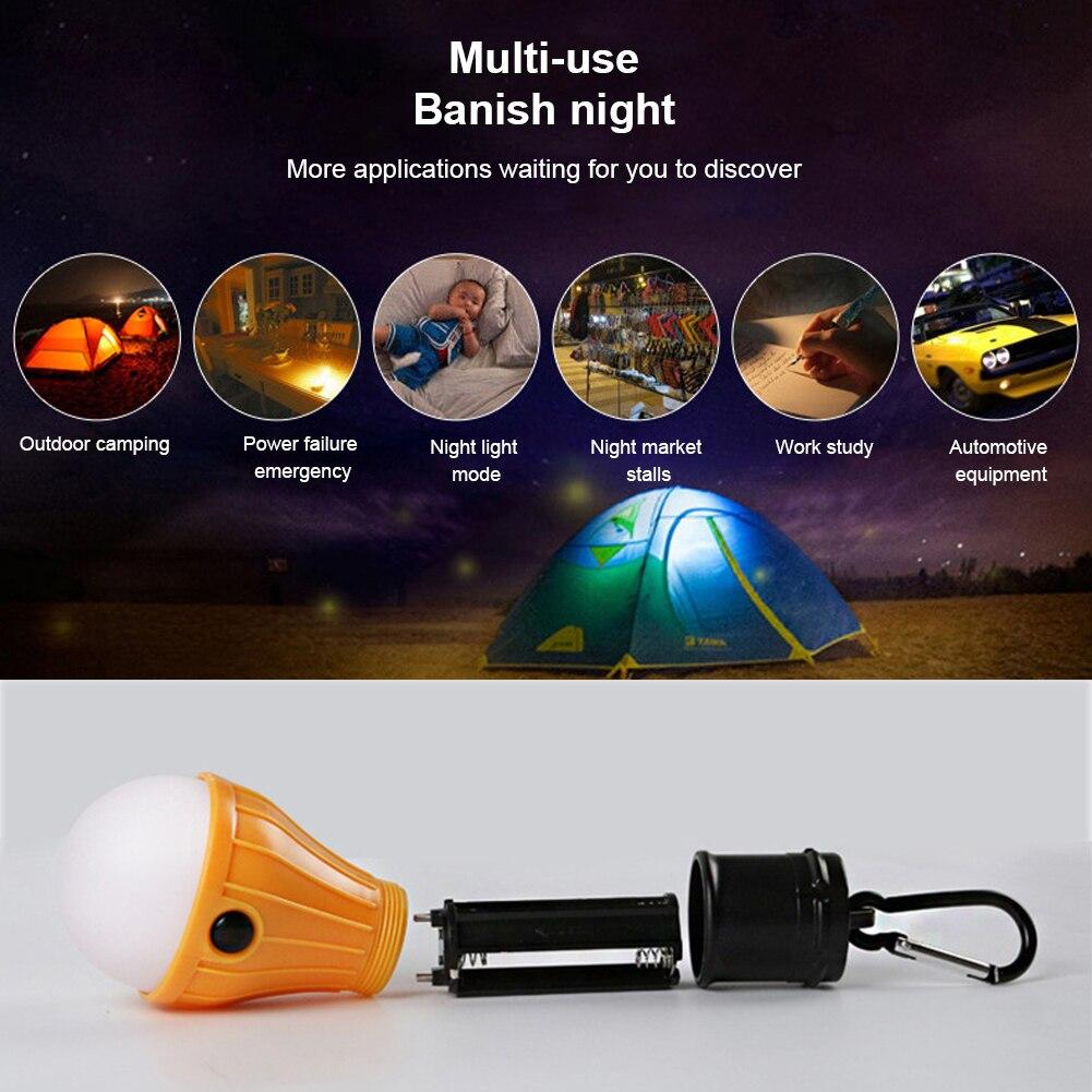 3 светодиода открытый портативный кемпинг свет аварийный свет рождество украшение маленький подвесной свет с SOS карабин