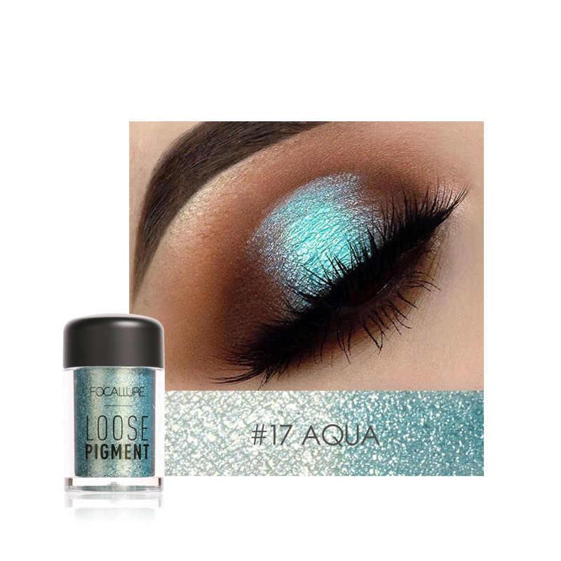 Focallure Glitter ผงอายแชโดว์เดี่ยวสี Pigments Shimmer Eye Shadow Powder