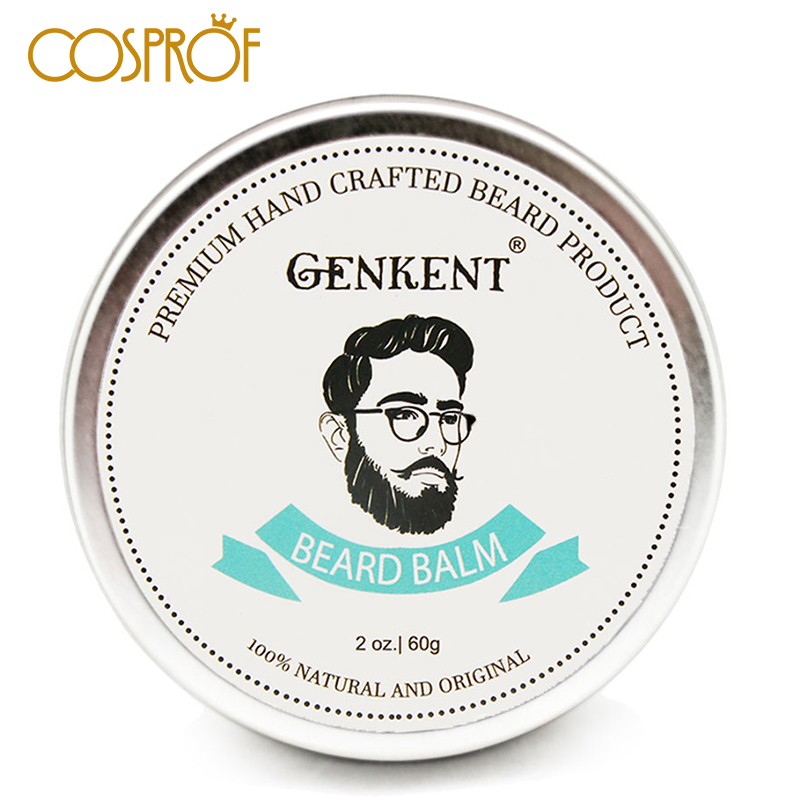 Cosprof 60g Natural Beard Balm Moustache Growth Product Cream Oil Conditioner Styling Wax