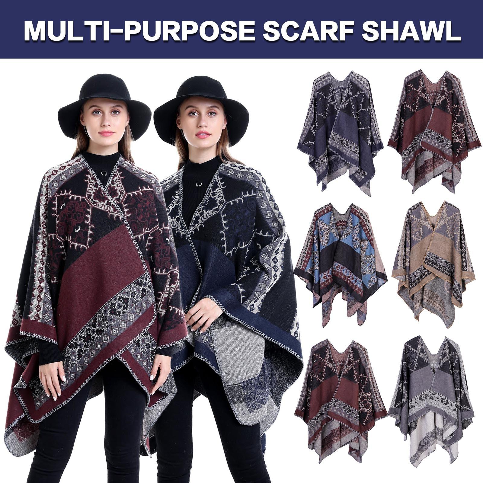 2020 Scarf Winter Women Pashmina Shawls Warm Blanket Wraps Female Foulard Bandana Print Scarves Шарф Женский Зимний