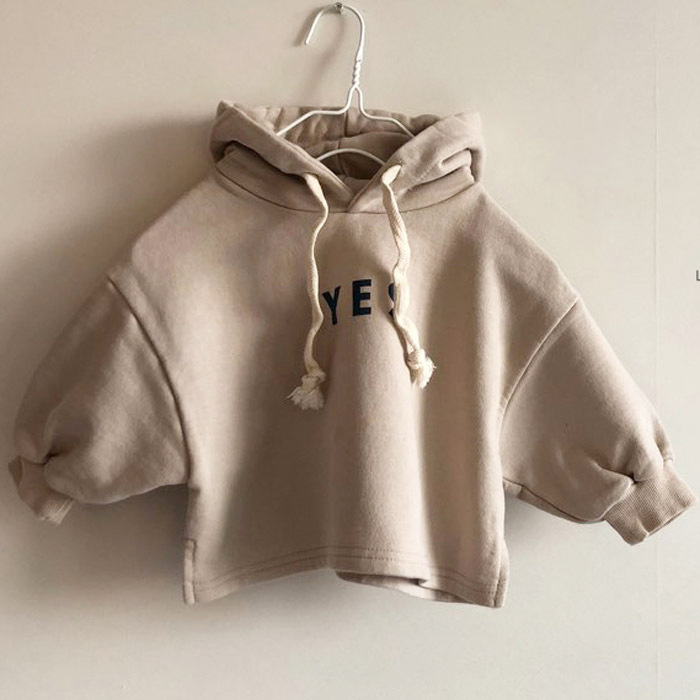7.99US $  2020 Autumn Korean Children's Clothing New Boys and Girls Casual  Lettered Hooded  Sweater...