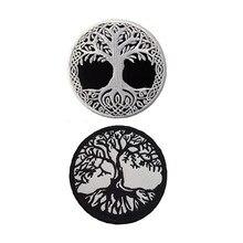 Yggdrasil – Badge brodé l'arbre de vie en nordique, Badge à coudre sur l'emblème
