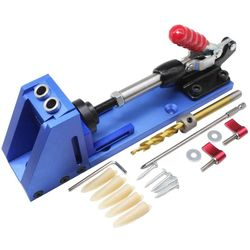 Guide du travail du bois Kit de charpentier système outils de forage à trous inclinés