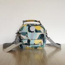 Bolso de mano de nailon para mujer, bolsa de mano pequeña de diseño original, bolso de hombro a la moda, mochila escolar con diseño de Mono para chica