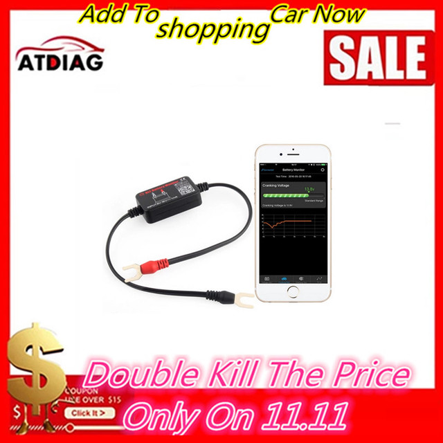 Probador de monitor de batería BM2, Bluetooth 4,0 de 12V, herramienta de diagnóstico para Android, IOS, iphone, analizador Digital, medición de batería