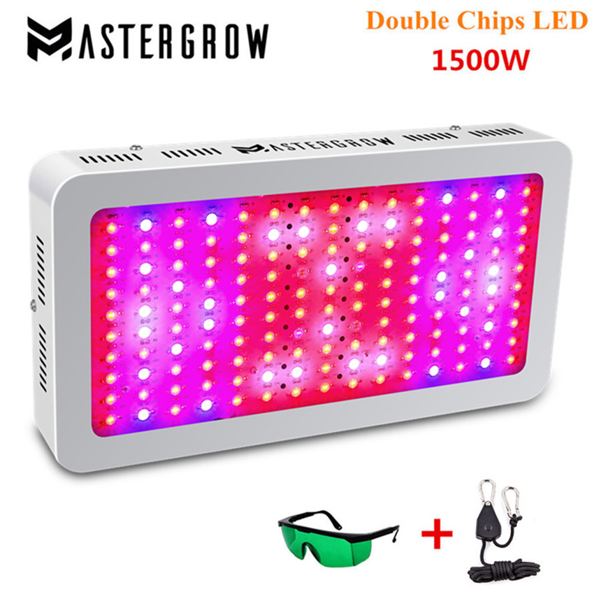 MasterGrow II 1500W Double Chips LED Grow Light Full Spectrum 410-730nm Red/Blue/White/UV/IR For Indoor Plants And Flower Phrase