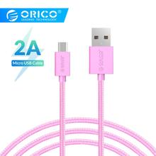 ORICO MDC-10 Colorful Micro USB Data Fast Charging Cable 1.0 Meter Support Max 2A -Black/White/Pink