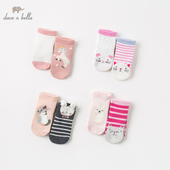 DB11971 dave bella spring autumn baby girls Lolita sock children bows lovely socks sets 2pcs image