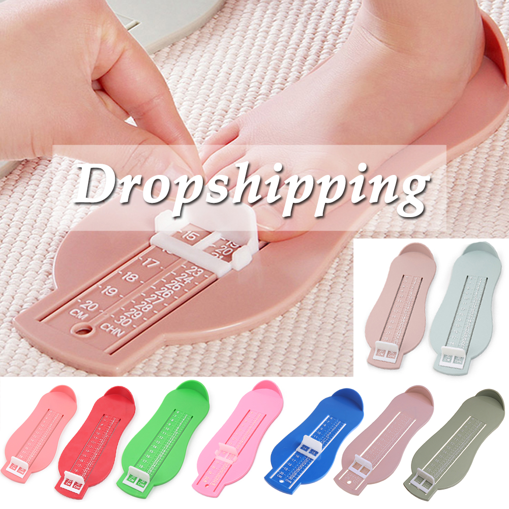 Adjustable Scale Shoe Size Ruler Foot Length Ruler Baby Feet Measuring Instrument Baby's Foot Length And Record  Growth  Process