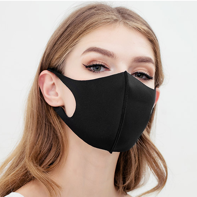 Black Nano Fiber Sponge Dust And Haze Mask Ergonomic Cut On Nose And Ear Loop Adjustable Buckle Face Mask Washable Reusable