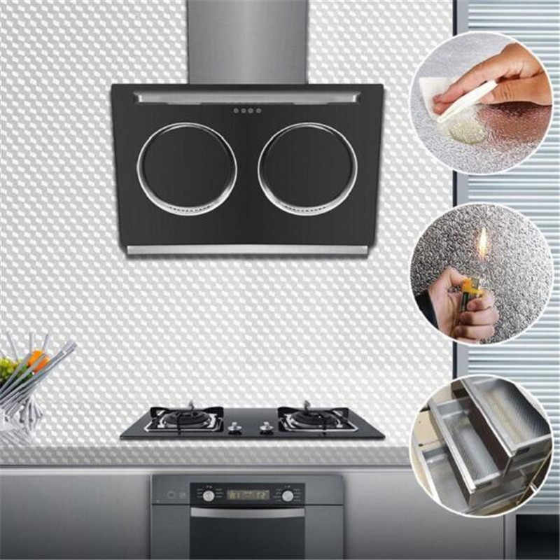 Wallpaper Kitchen Oil-proof Self Adhesive Stickers Aluminum Foil Waterproof Cabinet Contact Paper Anti-fouling High-temperature
