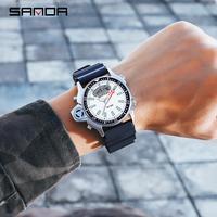 Sanda Mode Sport herren Uhr Casual Stil Uhren Männer Militär Quarz Armbanduhr Diver S Schock Mann Relogio Masculino