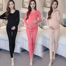 Брюки для беременных женщин, костюм, мода, Одежда для беременных, зимний пижамный комплект для беременных, удобное нижнее белье, одежда на весну и осень