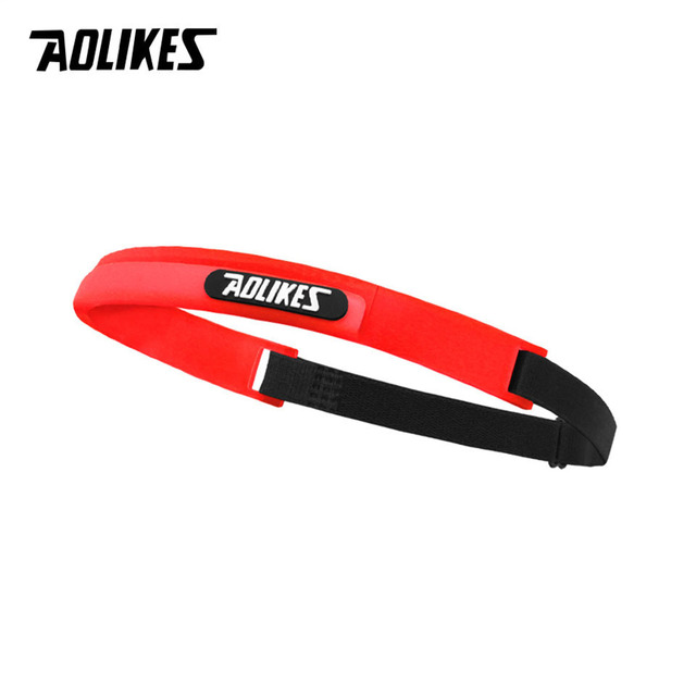 AOLIKES silicone guiding sweat head band sweatband elastic headbands Outdoor Sports Headwear Sweatband Belt Silicone Guiding Swe 2