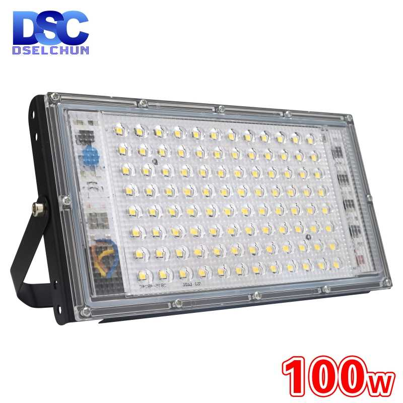 100W Led Banjir Cahaya AC 220V 230V 240V Lampu Sorot Outdoor Spotlight IP65 Tahan Air LED Lampu Jalan landscape Lighting